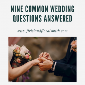 Common wedding questions
